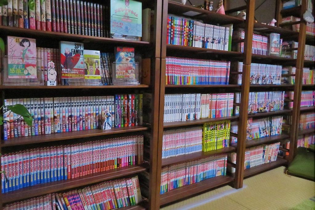 マンガ図書館にはたくさんのマンガがあるぞ